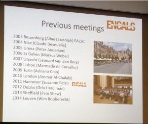 Encals 15 prev meeting slide